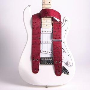 gitaarband Cork 5 Wine Red 01 rood